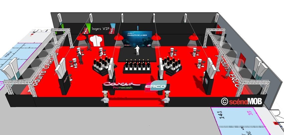 scénographie de salon professionnel, design d'espace, agencement de stand, design de stand, décor stand professionnel, création de stand, réalisation de stand, scenomob, vendée, nantes, angers, la rochelle, niort