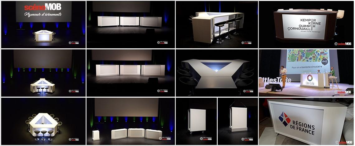 agence d'événement pour plateau TV, mobilier pour événément digital, mobilier webinaire, webinar, webTV, web-TV, e-evenement, scénomob, location de mobilier télé